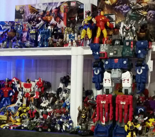 Tons of Transformers and superheroes
