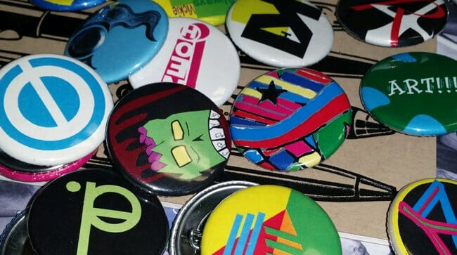 Artsy buttons