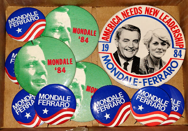 Walter Mondale campaign buttons
