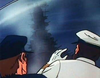 Gatchaman Episode 5 battleship